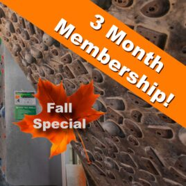 3 Month Fall Membership – ADULT