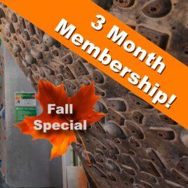 3 Month Fall Membership – ADULT